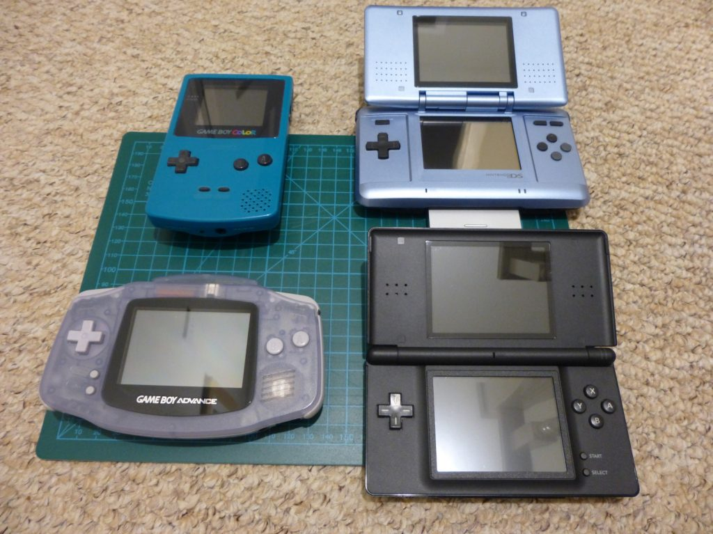 Gameboy Color, Gameboy Advance, Nintendo DS and Nintendo DS Lite.