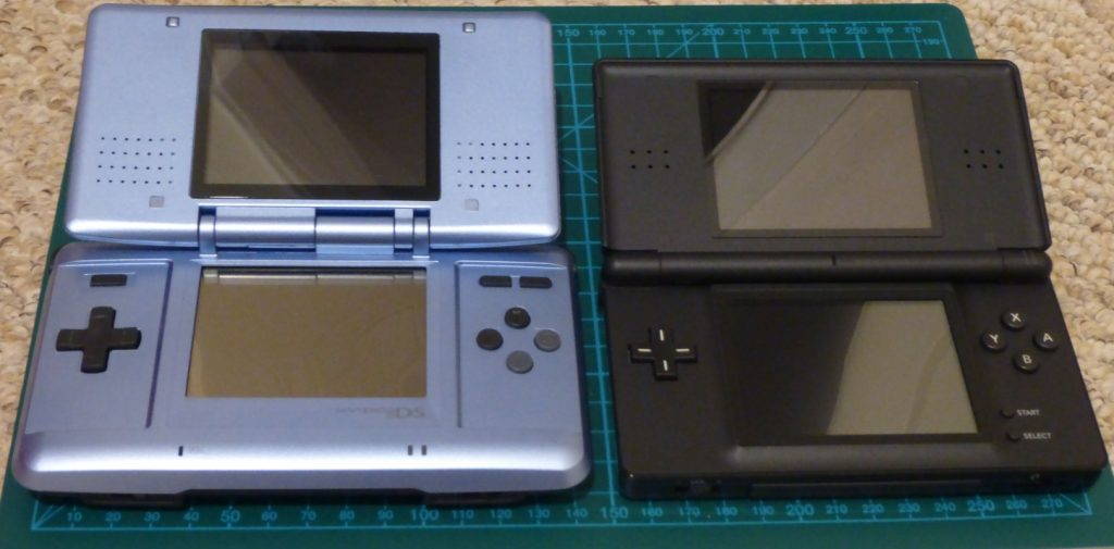 Nintendo DS and a DS Lite.